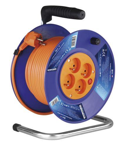 PVC prodlužovací kabel na bubnu – 4 zásuvky, 30m, 1mm2 P19430