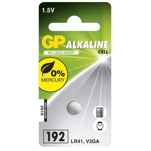 Alkalická knoflíková baterie GP 192F (LR41), 1041019211