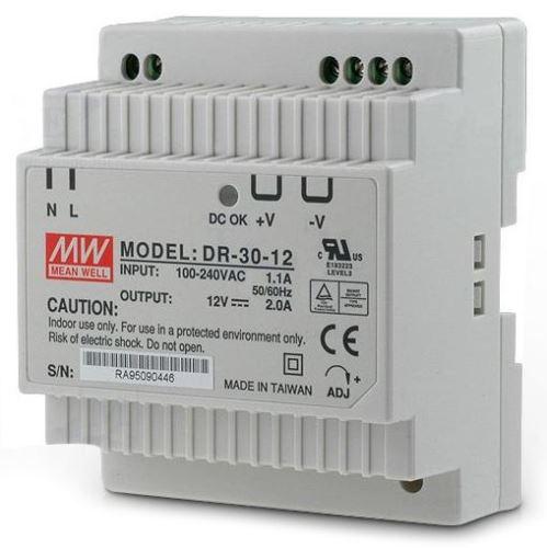 VAR COM ZDROJ DR-30-12 NA DIN 12VDC 2A 24W 0104-318