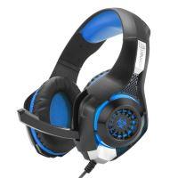 CONNECT IT BIOHAZARD herní sluchátka s mikrofonem, MODRÁ, USB, 3,5mm jack CHP-4510-BL