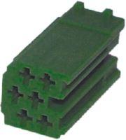 Konektor MINI ISO 6-pin bez kabelů - zelený, 25005zel