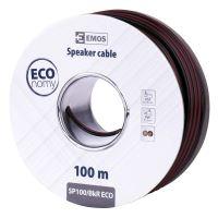 Dvojlinka ECO 2x1,0mm, černo/rudá, 100m, 2308310050