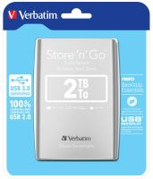 "VERBATIM Store´n´ Go 2,5"" 2TB USB 3.0 stříbrný 53189"