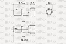 Konektor kruhový kolík O 4mm