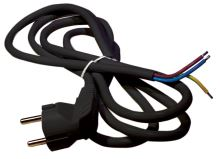 Flexo šňůra PVC 3x0,75 mm, 2m černá, 2413720232