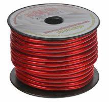 Kabel 10 mm, červeně transparentní 1m