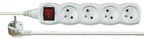 Prodlužovací kabel s vypínačem 4 zásuvky 3m, bílý, 1902140300