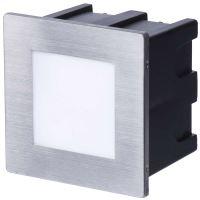 LED orientační vestavné svítidlo 80×80, 1,5W teplá bílá IP65, ZC0109