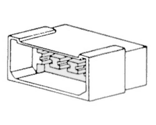 Zásuvka 8-pólová, samička, 42013
