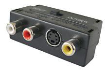 Redukce Scart konektor/ 3 x CINCH zdířka + SVHS + přepínač IN/OUT TIPA D922
