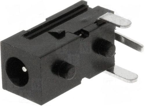 DC konektor 065mm, uhlový s vypínačem