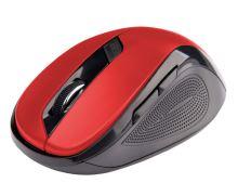C-TECH myš WLM-02, černo-červená, bezdrátová, 1600DPI, 6 tlačítek, USB nano receiver WLM-02R