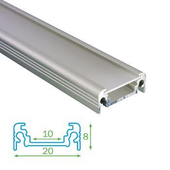 AL profil FKU11 BC/UX pro LED, s plexi, 2m, elox FKU11-2M-EL