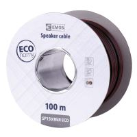 Dvojlinka ECO 2x1,5mm, černo/rudá, 100m, 2308315050