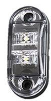 Přední obrysové světlo LED, bílý ovál, kf662E