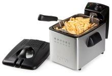 Fritéza nerezová - DOMO DO465FR, Objem: 4 l, Příkon: 3000 W, Vyjímatelná fritovací nádoba