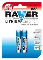 Lithiová baterie RAVER FR03 (AAA), 1321112000