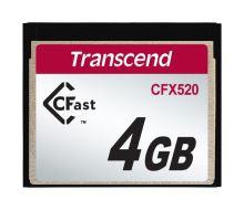 Transcend 4GB INDUSTRIAL CFAST CFX520 paměťová karta (SLC), TS4GCFX520