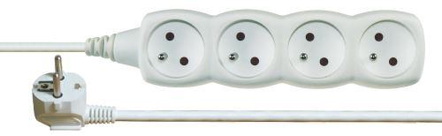Prodlužovací kabel – 4 zásuvky, 3m, bílý, 1902040300