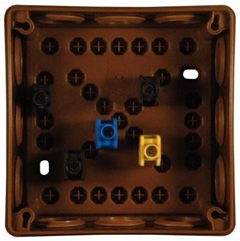 DAMIJA KRABICE 059 HNĚDÁ 110X110,IP55
