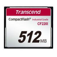 Transcend 512MB INDUSTRIAL TEMP CF220I PIO CF CARD (SLC) Fixed disk and UDMA5