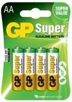Alkalická baterie GP Super LR6 (AA), blistr, 1013214000