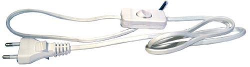 Flexo šňůra PVC 2x0,75 mm, 3m bílá s vypínačem, 2402730132