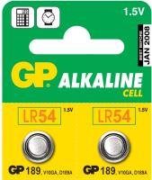 Alkalická knoflíková baterie GP LR54 (189F), blistr, 1041018910