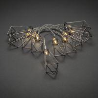 Dekorativní LED řetěz lucerny bateriový 3128-303, stříbrný vzhled