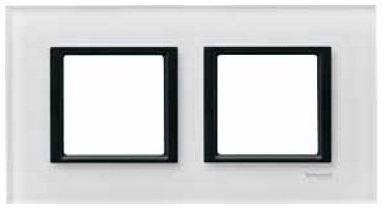 SCHN UNICA CLASS RÁMEČEK 2-NÁSOB WHITE GLASS MGU68.004.7C2
