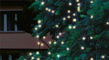 LED světelný řetěz, 20m, 200 LED, teplá bílá, spojovatelný KTI200/WW
