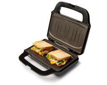 Sendvičovač na 2 XL sendviče - nerez - DOMO DO9195C, Příkon: 900W, nerez
