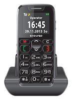 EVOLVEO EasyPhone, mobilní telefon pro seniory s nabíjecím stojánkem, snadné ovládání EP-500-BLK