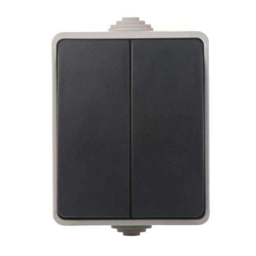 Přepínač nástěnný č. 5 IP54, 2 tlačítka, 3104139811
