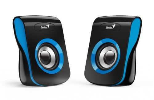 GENIUS repro SP-Q180, 2.0, 6W, USB napájení, 3,5mm jack, černo-modré