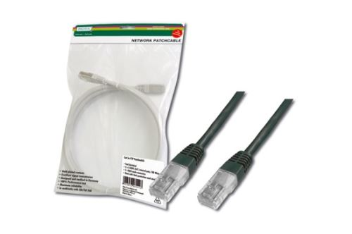 Digitus Patch Cable, UTP, CAT 5e, AWG 26/7, měď, černý 2m