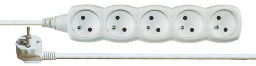 Prodlužovací kabel 5 zásuvek 2m, bílý, 1902050200