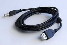 Kabel GEMBIRD USB A-A 1,8m 2.0 prodlužovací HQ s ferritovým jádrem, KAB056C2F