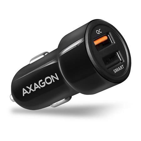 AXAGON PWC-QC5, QUICK a SMART nabíječka do auta, 2x port QC3.0/AFC/FCP + 5V-2.6A, 31.5W