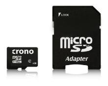 Crono micro Secure Digital HC (microSDHC) karta 8GB Class 6 + adaptér CRC1/8GBA