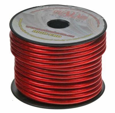 Kabel 6 mm, červeně transparentní 1 m