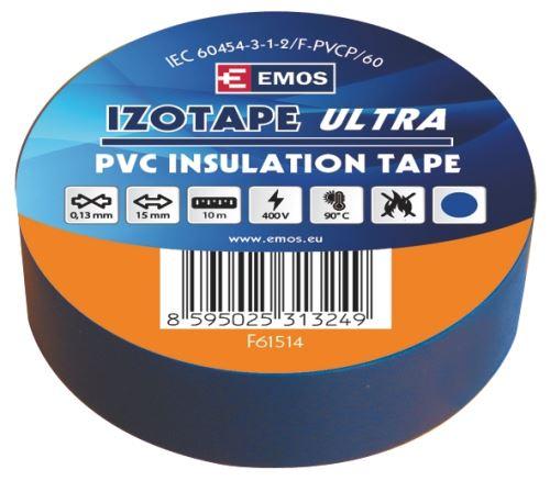 Izolační páska PVC 15mm / 10m modrá F61514