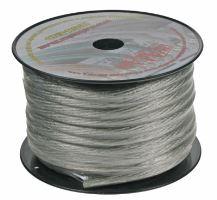 Kabel 20 mm, stříbrně transparentní, 1m