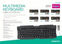 OMEGA multimediální klávesnice OK26 OK026CZ