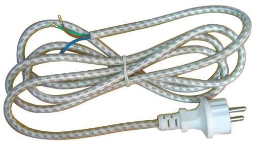 Flexo šňůra opředená 3x0,75 mm, 2,4m k žehličce, 2435724032