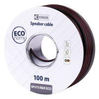 Dvojlinka ECO 2x0,75mm, černo/rudá, 100m, 2308307550