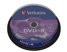 VERBATIM DVD+R AZO 4,7GB, 16x, spindle 10 ks 43498