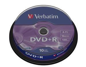 VERBATIM DVD+R AZO 4,7GB, 16x, spindle 10 ks