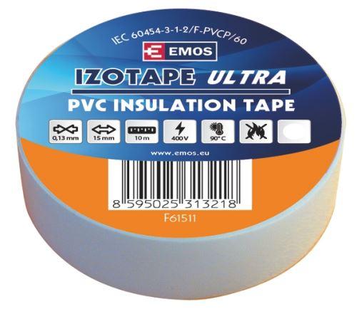 Izolační páska PVC 15mm / 10m bílá, 2001151010