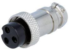Mikrofonní zásuvka na kabel 3 piny MIC323